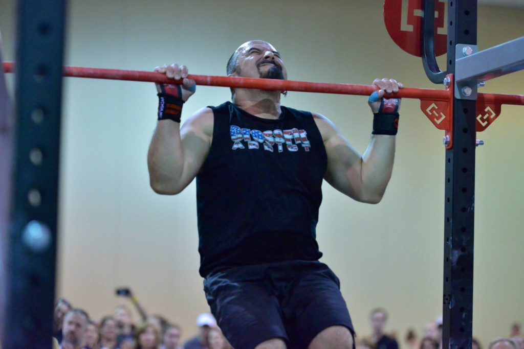 Auggie's pullups during SuperFit 2017
